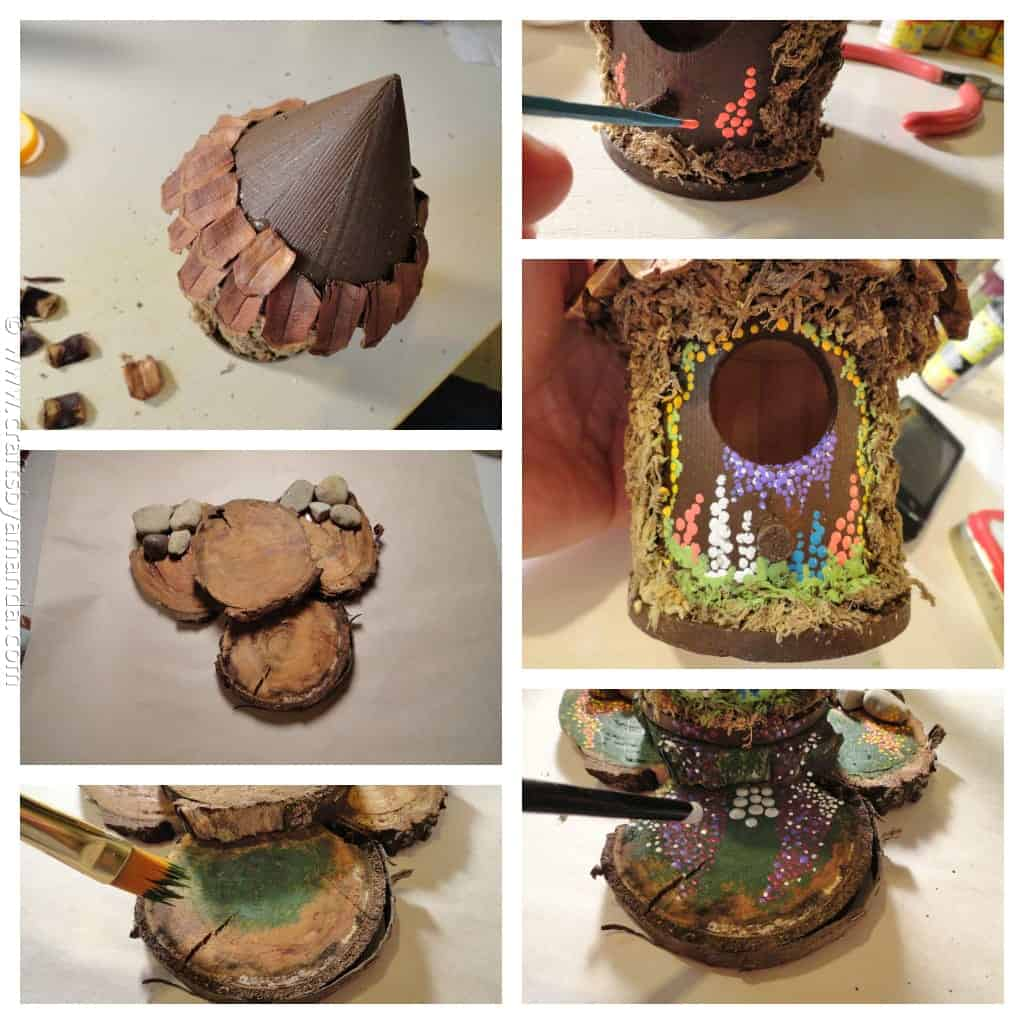 make a fairy house crafts by amanda. Black Bedroom Furniture Sets. Home Design Ideas