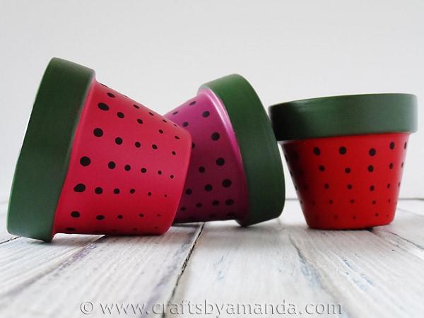 Strawberry Terra Cotta Pots Crafts By Amanda