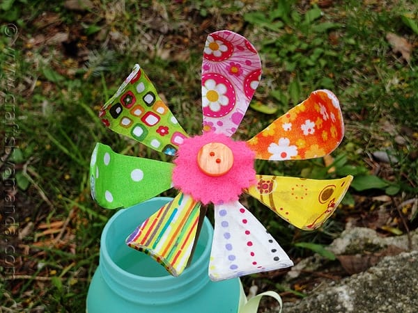 Bendable fabric flower crafts by amanda for Spring craft ideas for adults