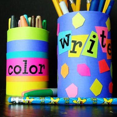 Back to School Pencil Holder - CraftsbyAmanda.com