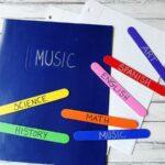 Easy Craft Stick Bookmarks