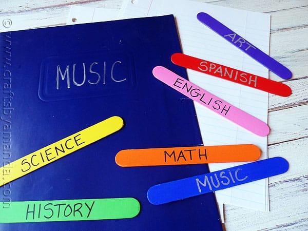 Easy Craft Stick Bookmarks - CraftsbyAmanda.com