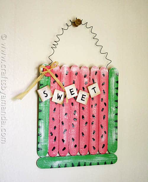 Craft Stick Watermelon