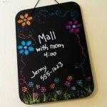 Glitter Flower Power Chalkboard
