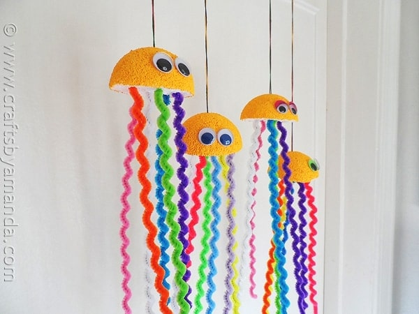 Rainbow Jellyfish Craft Crafts By Amanda