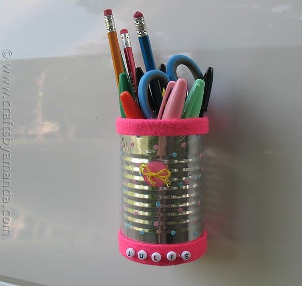 Magnetic Locker Pencil Holder - CraftsbyAmanda.com