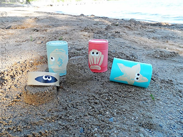 sea creature sand castle cans, CraftsbyAmanda.com