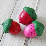 Strawberry Acorn Magnets at CraftsbyAmanda.com
