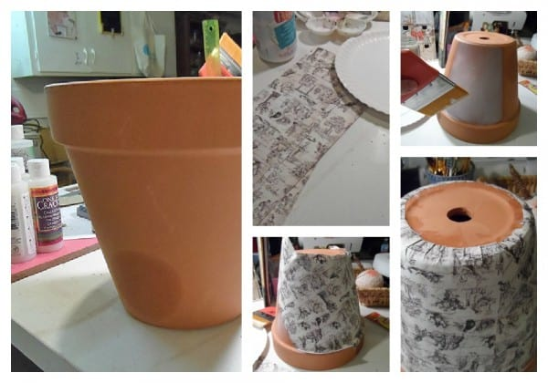 Vintage Crackled Flower Pot steps by CraftsbyAmanda.com