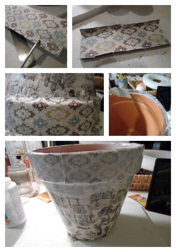 Vintage Crackled Flower Pot step 2 by CraftsbyAmanda.com