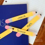 These craft stick pencil bookmarks are a great back to school craft. They are easy enough for kids to help with, or for you to create on your own.