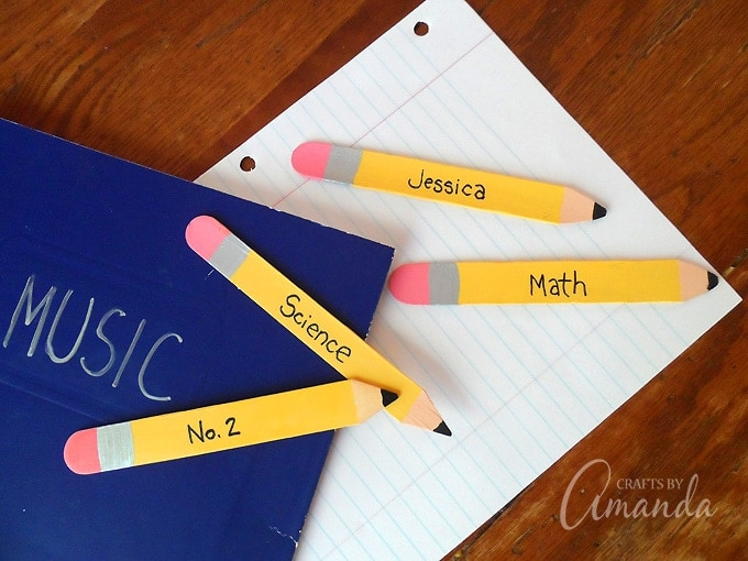 Craft Stick Pencil Bookmarks: the perfect back to school craft