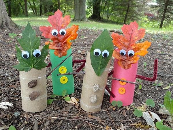 Fall Leaf Finger Puppets - CraftsbyAmanda.com