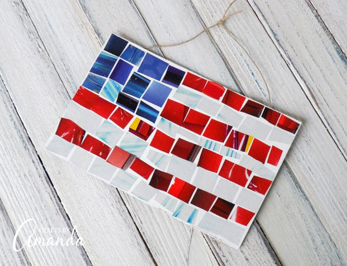 Magazine Mosaic Flag: a great craft for Independence Day, Memorial Day or Patriots Day.