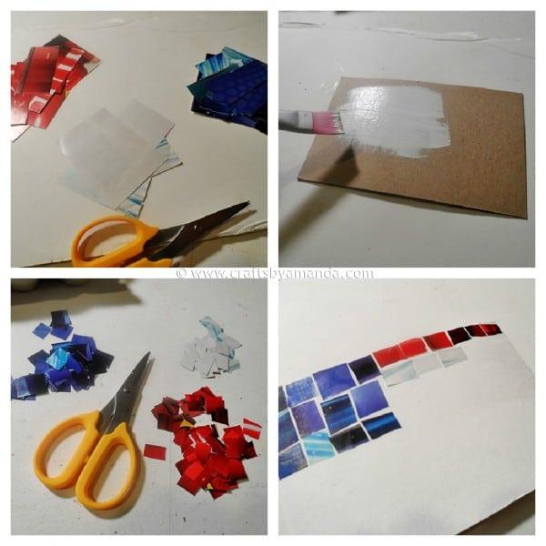 Magazine Mosaic Flag - craftsbyamanda.com