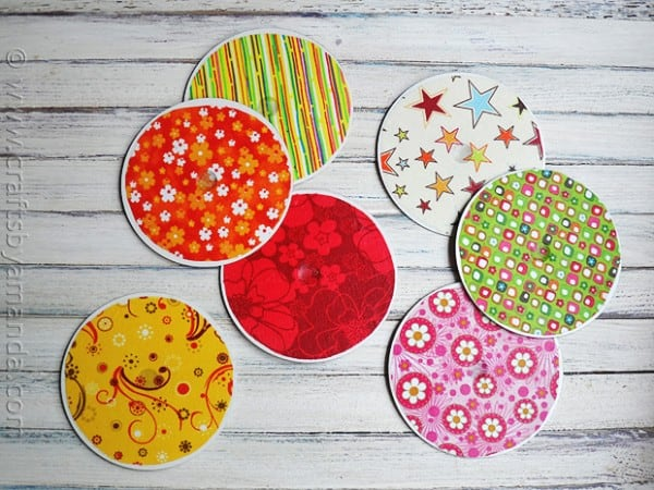 Recycle Craft: DVD/CD Coasters by CraftsbyAmanda.com