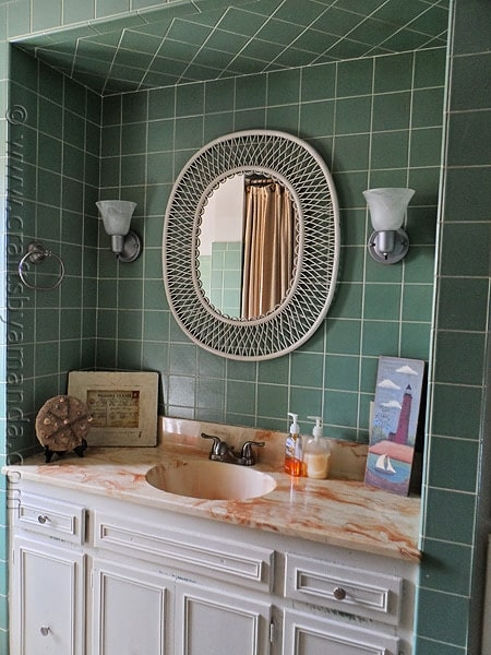 Bathroom Wall Sconce Makeover - CraftsbyAmanda.com