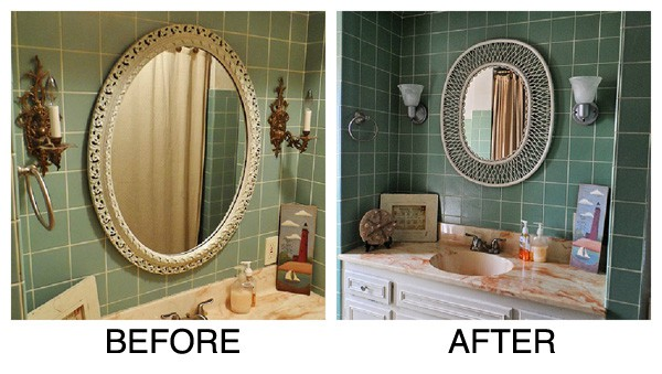 Diy Bathroom Wall Sconces : Bathroom Wall Sconce Makeover - Crafts by Amanda