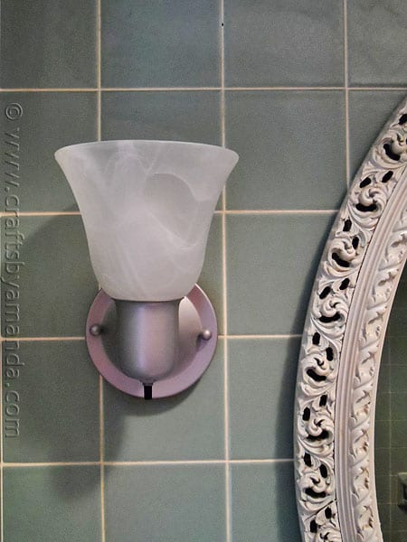 Simple Bathroom Wall Sconces : Bathroom Wall Sconce Makeover - Crafts by Amanda