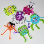 Glitter Foam Monsters - CraftsbyAmanda.com