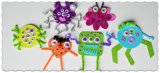 Glitter Foam Monsters