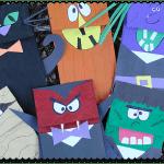 halloween paper bag puppets print