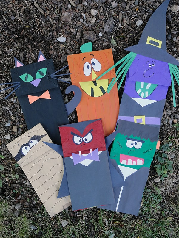 Halloween Craft: Paper Bag Puppets - CraftsbyAmanda.com