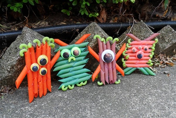 Colorful Pasta Monsters  by CraftsbyAmanda.com