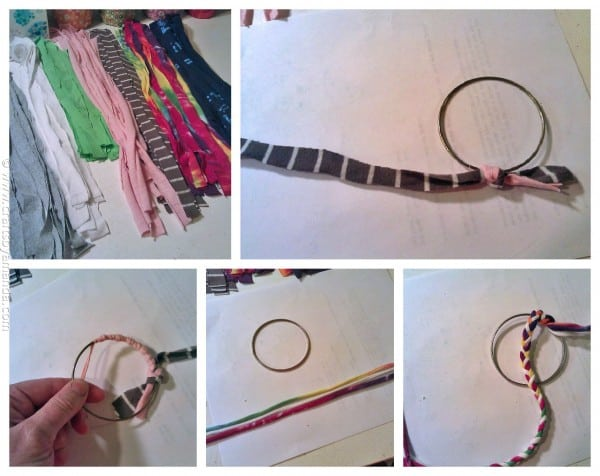 Make Bracelets from Recycled T-shirts steps - CraftsbyAmanda.com