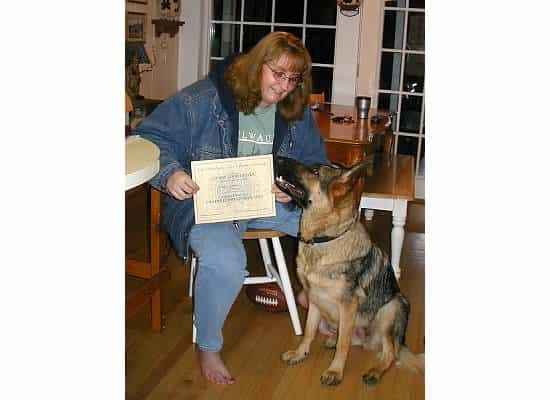 Angel and I graduated from training