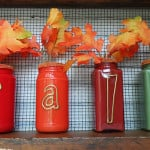 Paint Coated Jar Vases for Fall - CraftsbyAmanda.com
