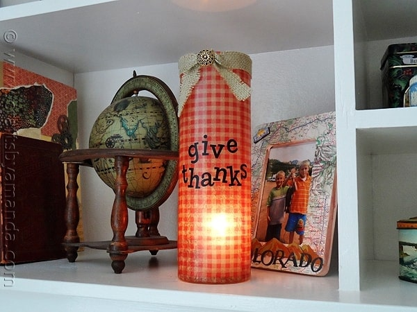 Thanksgiving Luminary Vase - CraftsbyAmanda.com