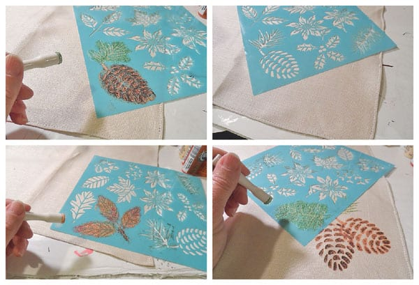 Making stenciled Thanksgiving napkins how to