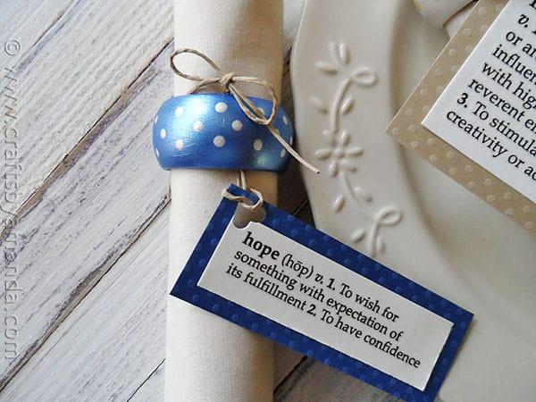 Polka Dot Pearl Napkin Rings - CraftsbyAmanda.com