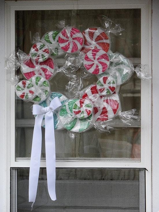 Peppermint Candy Wreath - CraftsbyAmanda.com