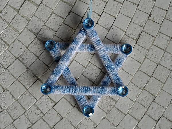 Shimmering Star of David - CraftsbyAmanda.com
