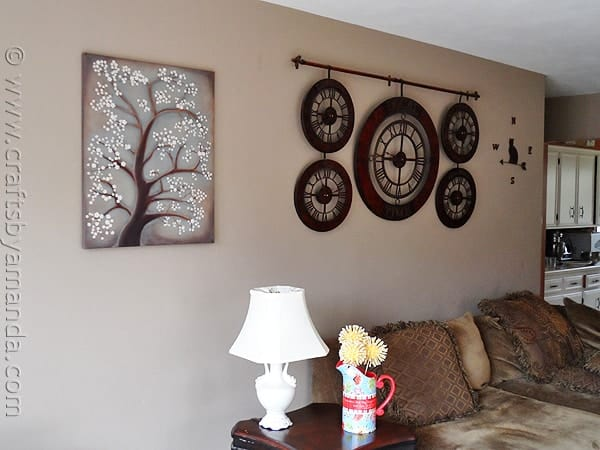 White Cherry Blossom Tree Painting - CraftsbyAmanda.com