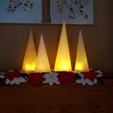 5 Minute Winter Tree Lanterns