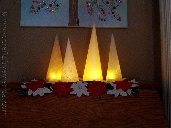 5 Minute Winter Tree Lanterns - CraftsbyAmanda.com