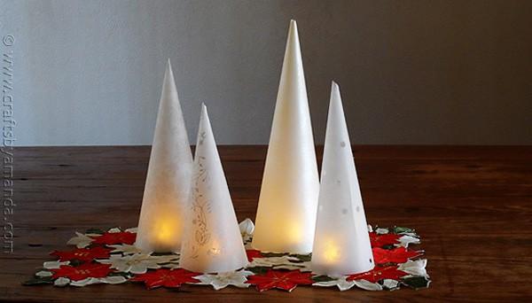5 Minute Winter Tree Lanterns - CraftsbyAmanda.com