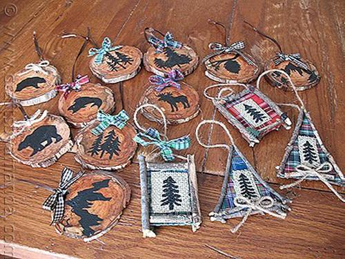 Rustic North Woods Ornaments - CraftsbyAmanda.com