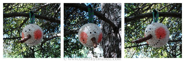 Jumbo Vintage Snowman Ornament - CraftsbyAmanda.com