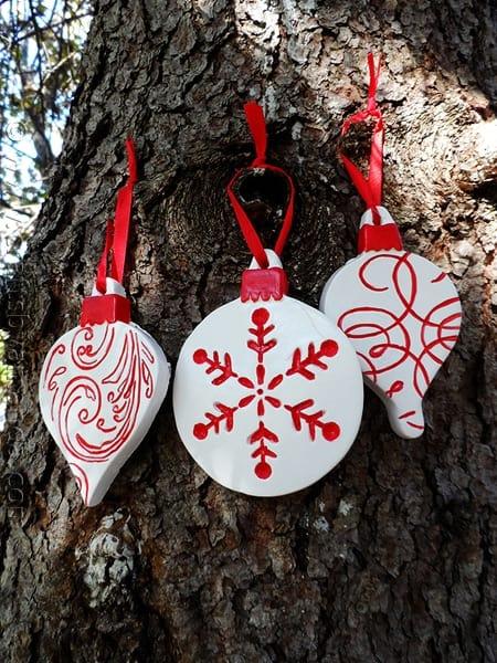 Scandinavian Plaster Ornaments - CraftsbyAmanda.com
