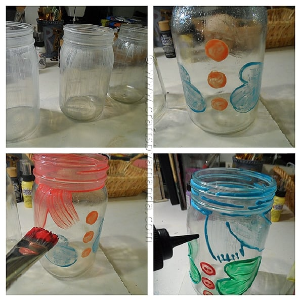 Snowman Belly Jars - CraftsbyAmanda.com