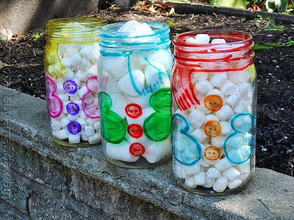 Snowman Belly Jars - CraftsbyAmanda.com