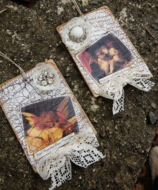 Vintage Crackled Cherub Ornaments - CraftsbyAmanda.com