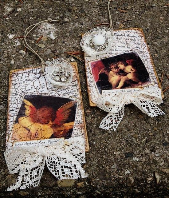 Fine Vintage Crackled Cherub Ornaments Crafts By Amanda Easy Diy Christmas Decorations Tissureus