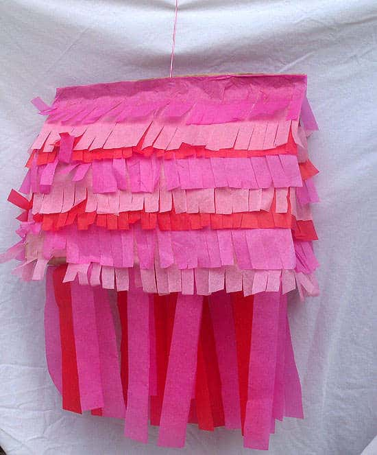 Crafts for kids - Valentine Paper Bag Pinata