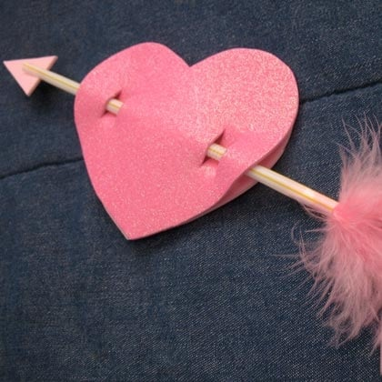 Cupid's Arrow Heart Card