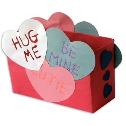 Valentine's Day crafts for kids - Conversation Heart Card Box